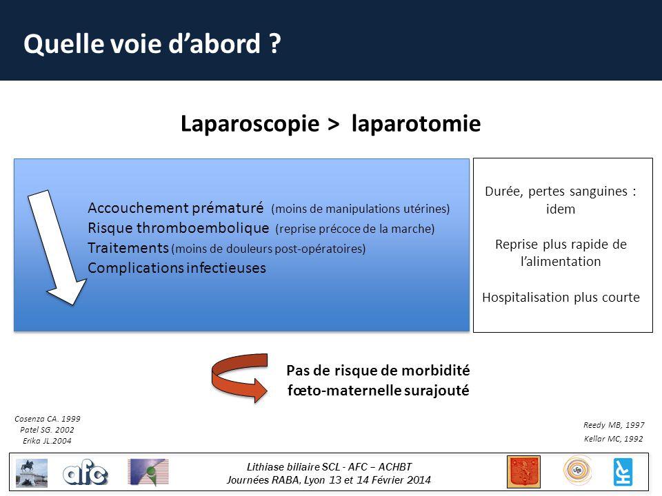 Lithiase biliaire SCL - AFC – ACHBT Journées RABA, Lyon 13 et 14 Février 2014 Quelle voie dabord .