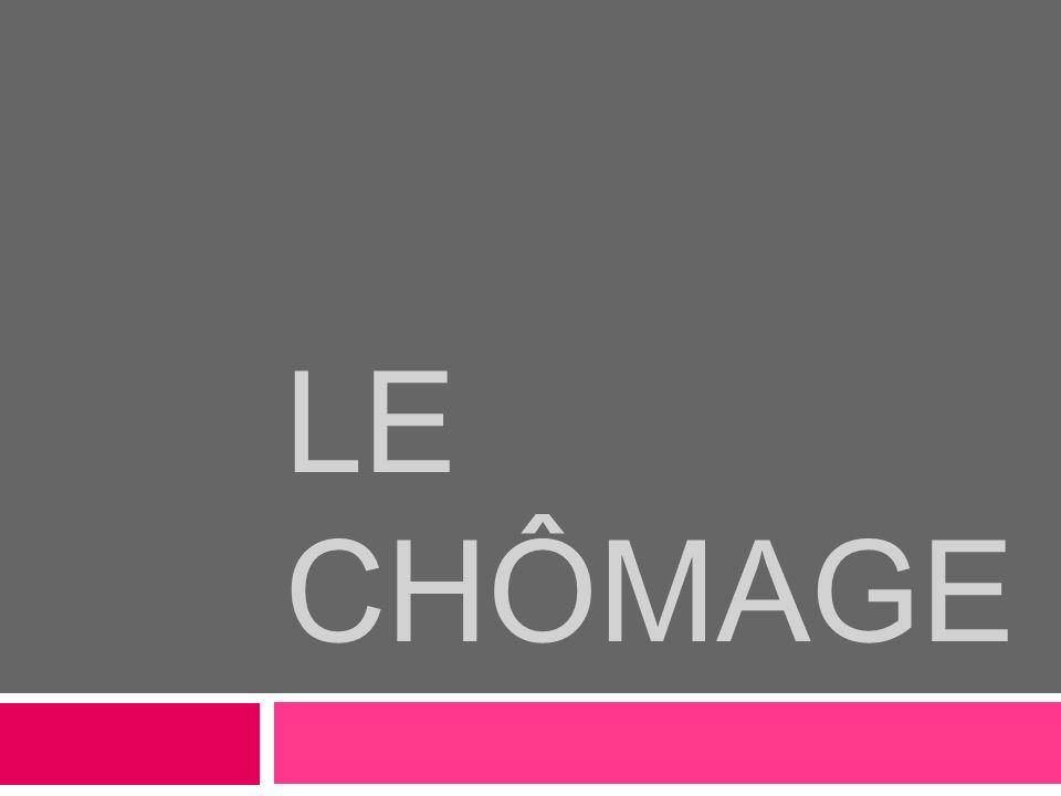 LE CHÔMAGE