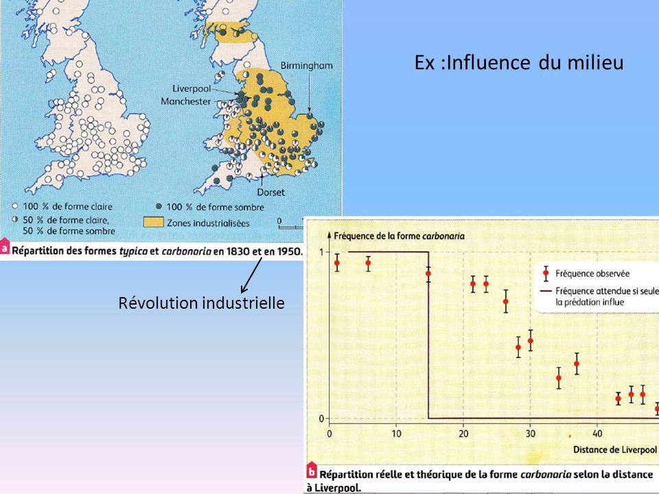Révolution industrielle Ex :Influence du milieu