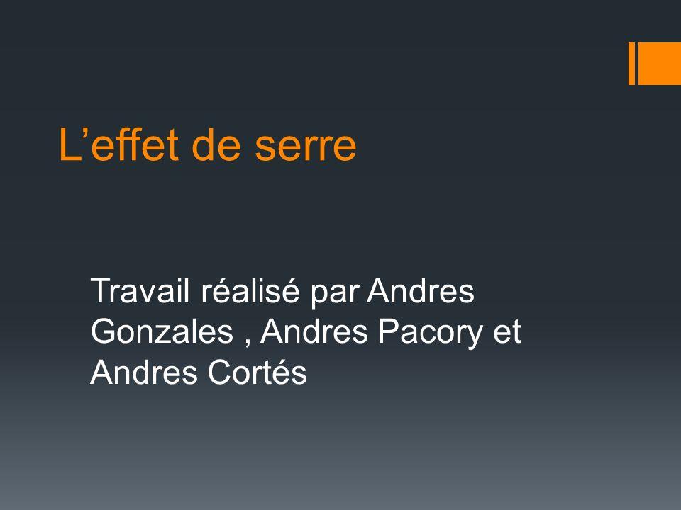 Leffet de serre Travail réalisé par Andres Gonzales, Andres Pacory et Andres Cortés