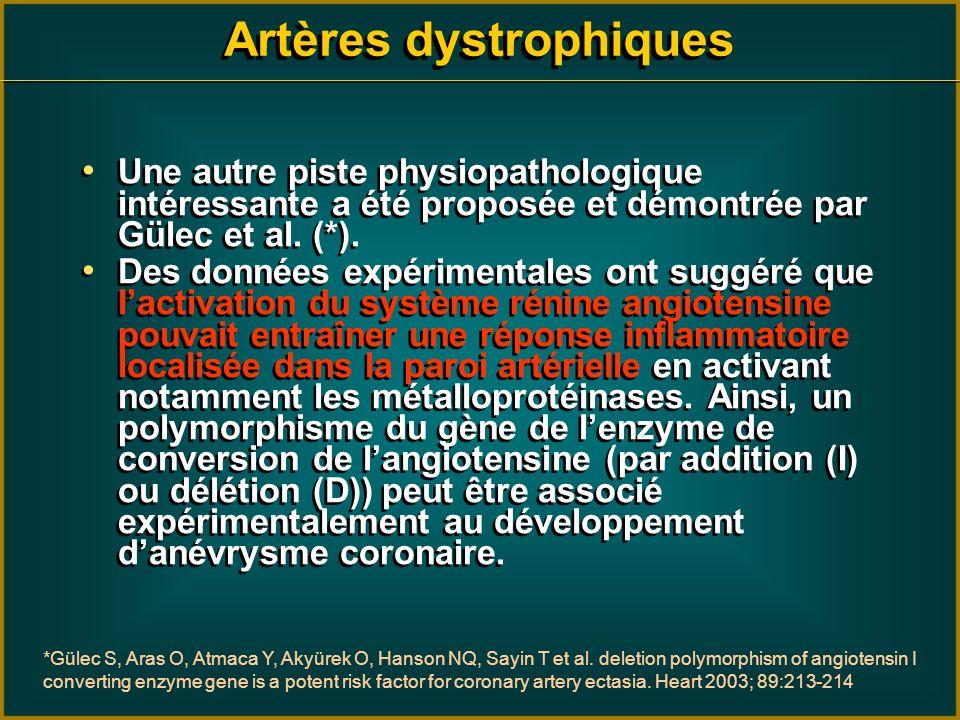Une autre piste physiopathologique intéressante a été proposée et démontrée par Gülec et al. (*). Des données expérimentales ont suggéré que lactivati