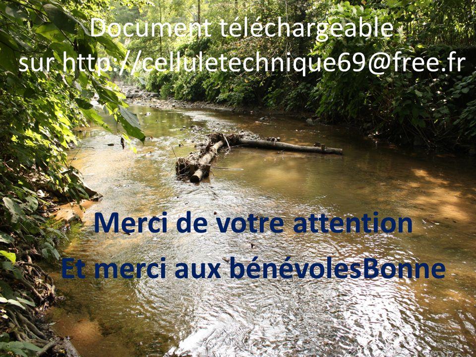 Merci de votre attention Et merci aux bénévolesBonne Document téléchargeable sur http://celluletechnique69@free.fr