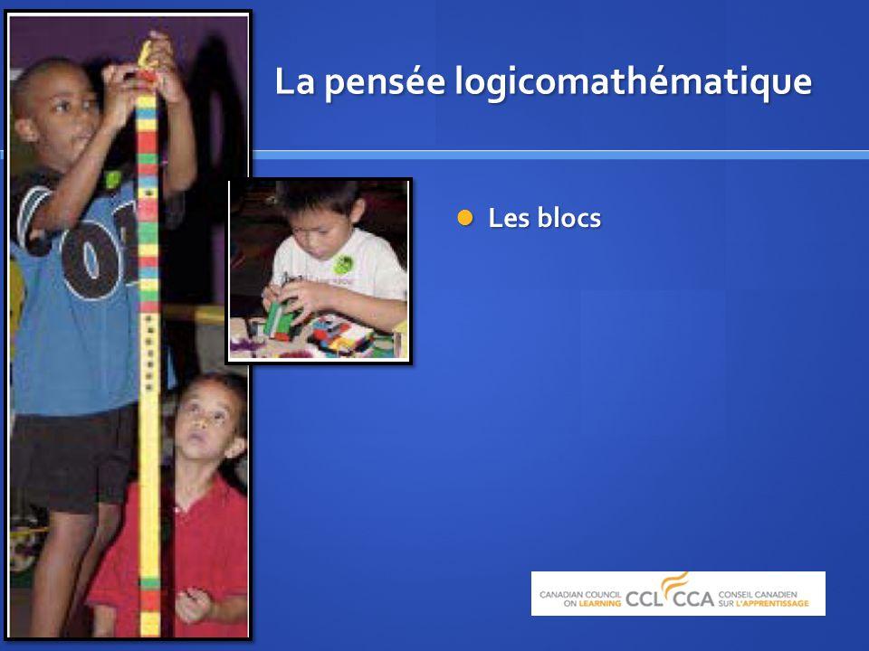 La pensée logicomathématique Les blocs Les blocs