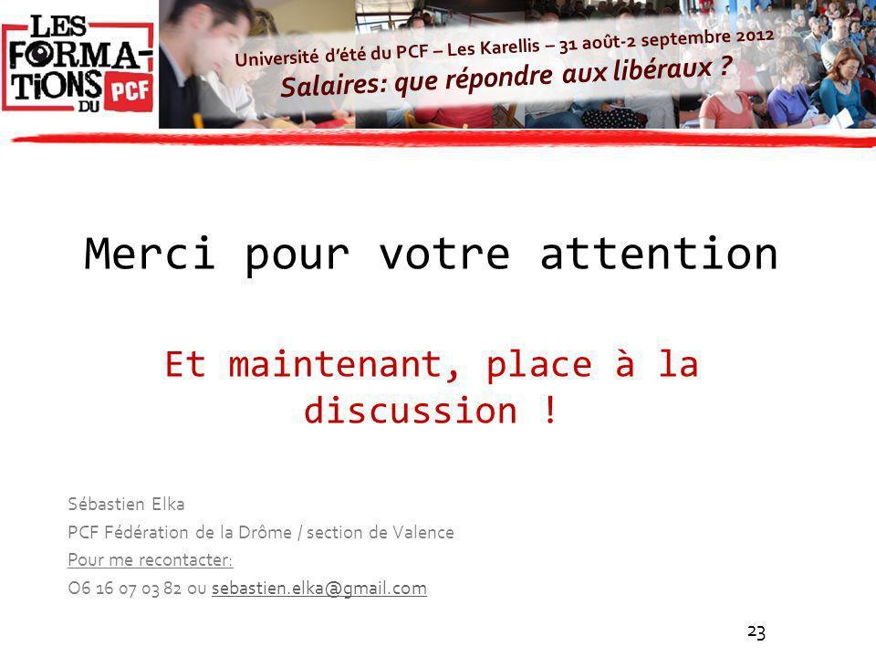 Université dété du PCF – Les Karellis – 31 août-2 septembre 2012 Salaires: que répondre aux libéraux ? Sébastien Elka PCF Fédération de la Drôme / sec