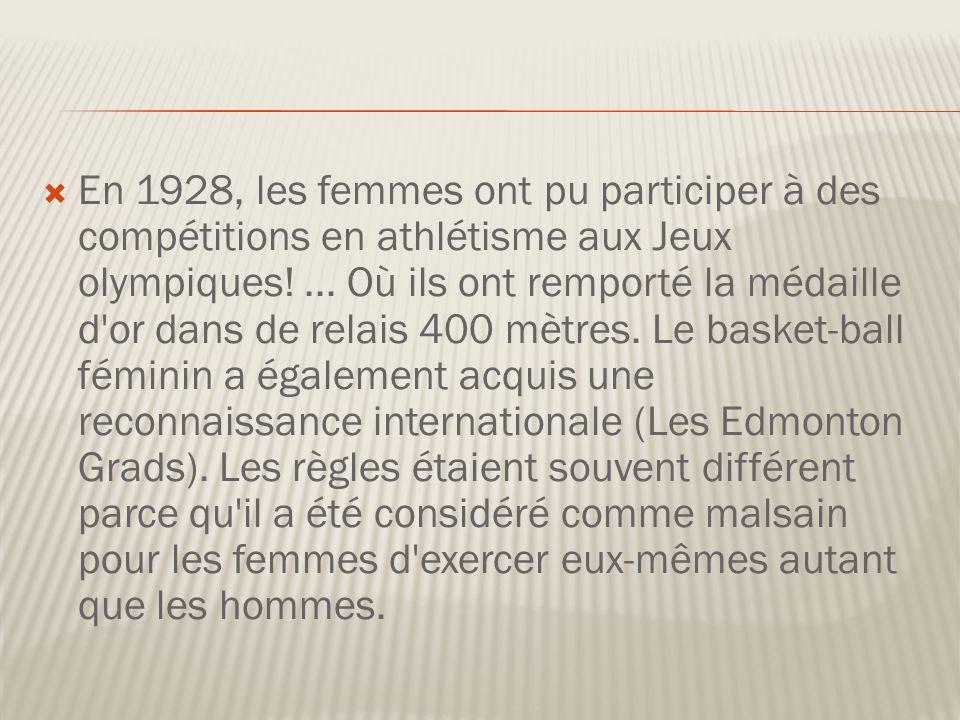 En 1928, les femmes ont pu participer à des compétitions en athlétisme aux Jeux olympiques!...