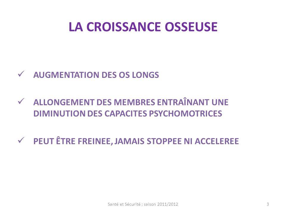 LA CROISSANCE MUSCULAIRE PERMET LAUGMENTATION DE LA PUISSANCE ET DE LAFORCE LA MUSCULATION EST IMPOSSIBLE AVANT LA PUBERTE MAIS LE DEVELOPPEMENT MUSCULAIRE SERA PLUS RAPIDE EN POST PUBAIRE SI LES EXERCICES ONT ETE DEBUTE 1 AN AVANT LA PUBERTE 4Santé et Sécurité ; saison 2011/2012