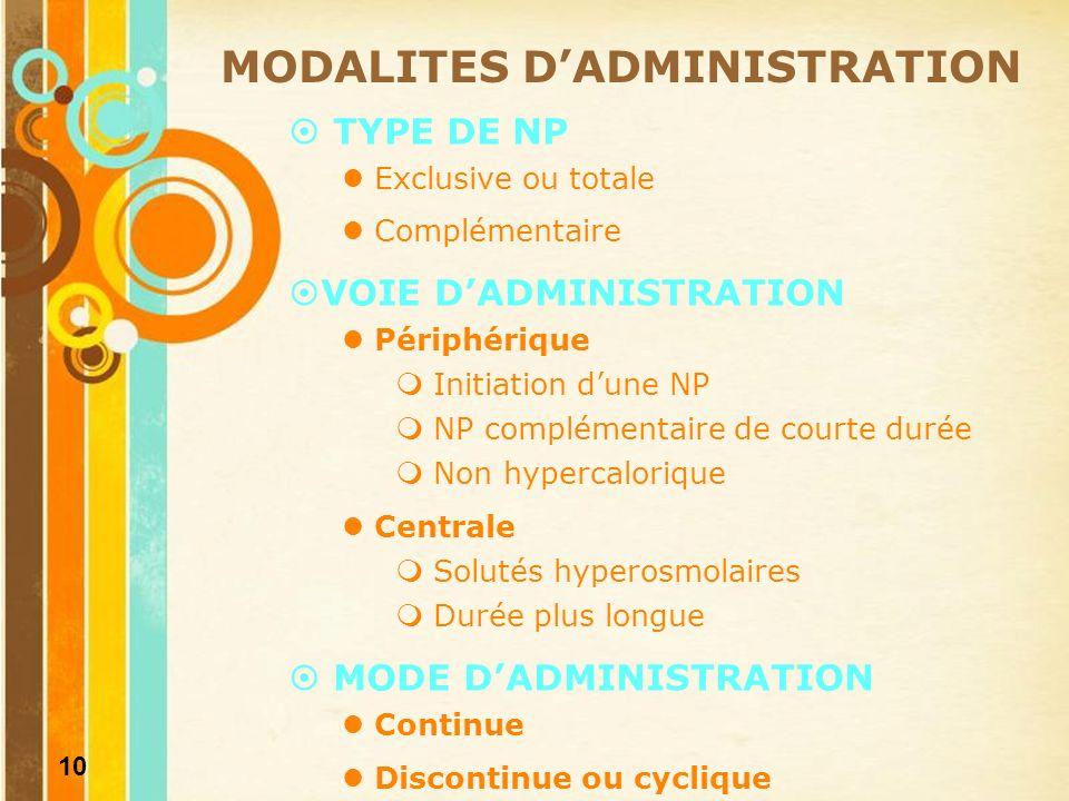 11 COMPLICATIONS ET SURVEILLANCE DE LA NP COMPLICATIONS Mécaniques (thrombose, pneumothorax…) Métaboliques (stéatose…) Infectieuses (asepsie…) SURVEILLANCE Biologique Métabolisme glucidique (glycémie, glycosurie) Métabolisme lipidique (triglycérides, enzymes hépatiques) Equilibre hydroélectrolytique (ionogramme) Etat nutritionnel (albumine, pré-albumine) Clinique Quotidienne Recherche des signes de surcharge ou de deshydratation Examen de la voie veineuse Pesée régulière Evaluation de lefficacité Surveillance de la tolérance Correction des carences