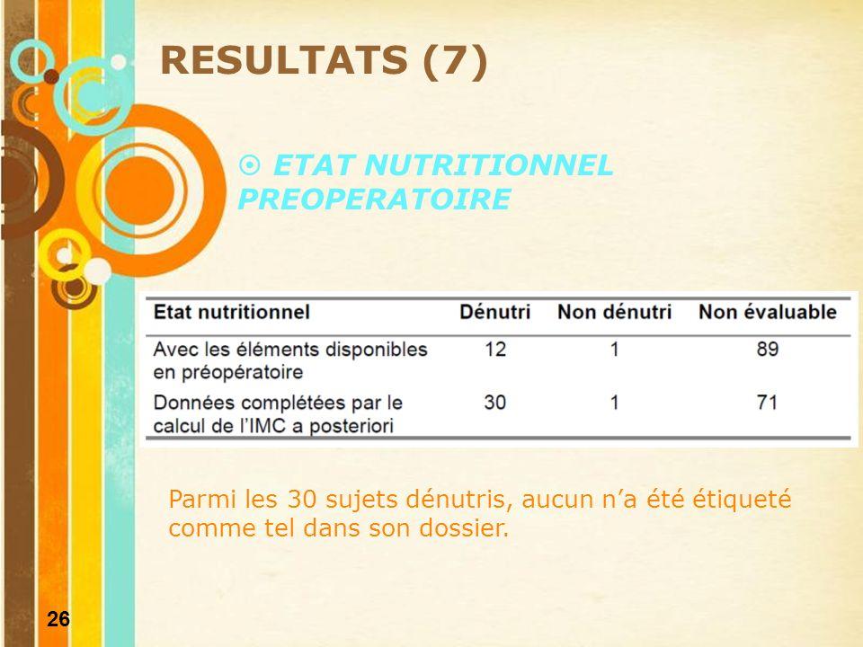 27 RESULTATS (8) 75 % < 25 kcal/kg/j 56 %