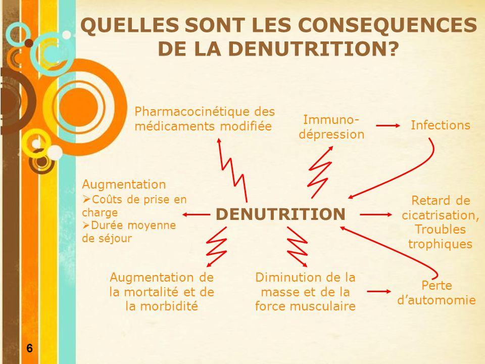 7 COMMENT PRENDRE EN CHARGE LA DENUTRITION.