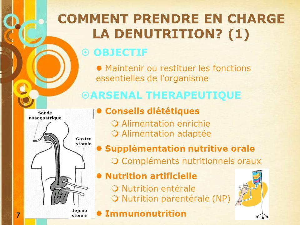 8 COMMENT PRENDRE EN CHARGE LA DENUTRITION.