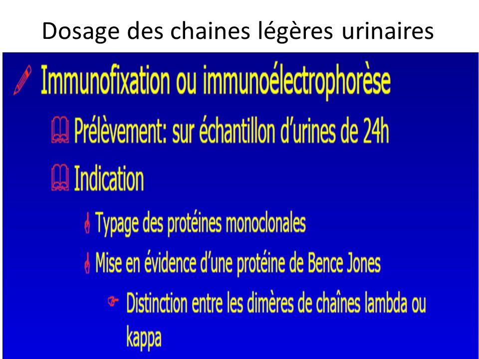 Dosage des chaines légères urinaires