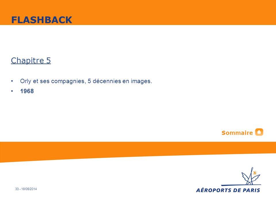 33 - 18/05/2014 Chapitre 5 Orly et ses compagnies, 5 décennies en images. 1968 FLASHBACK Sommaire