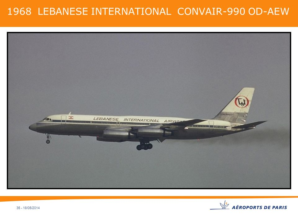 35 - 18/05/2014 1968 LEBANESE INTERNATIONAL CONVAIR-990 OD-AEW
