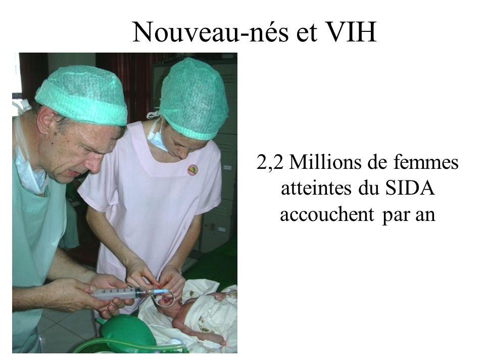Nouveau-nés et VIH 2,2 Millions de femmes atteintes du SIDA accouchent par an