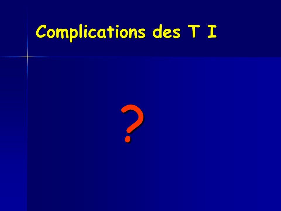 Complications des T I ?
