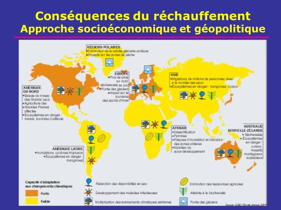 Conséquences du réchauffement Approche socioéconomique et géopolitique
