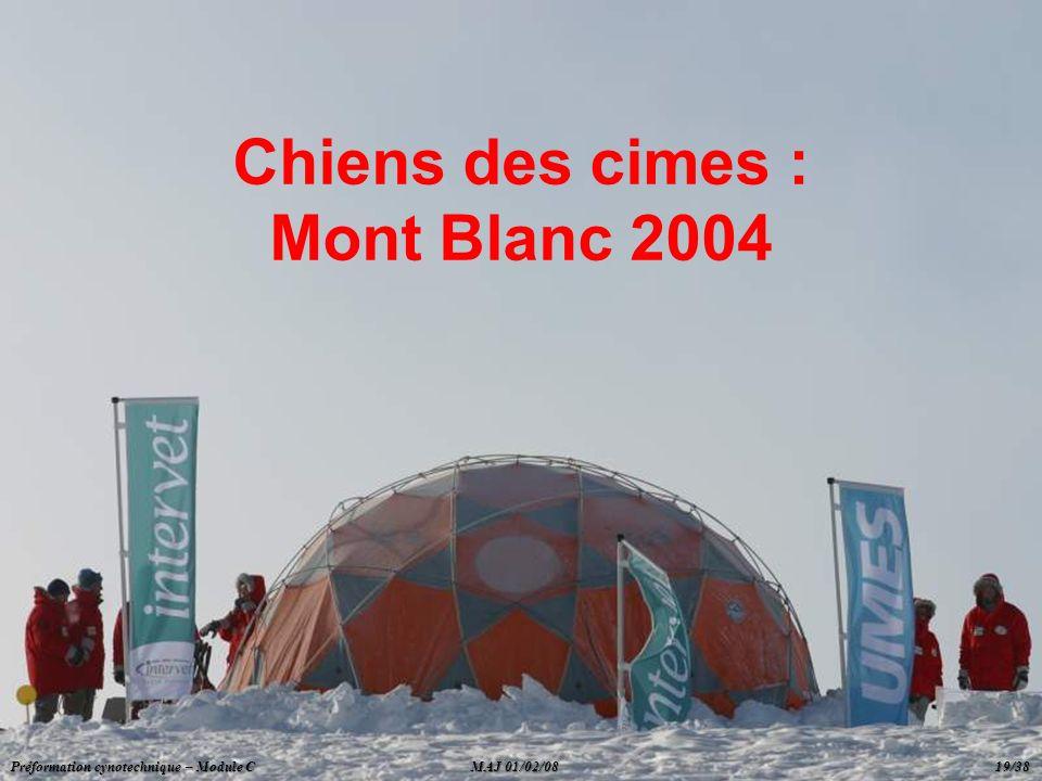 Chiens des cimes : Mont Blanc 2004 Préformation cynotechnique – Module C MAJ 01/02/08 19/38