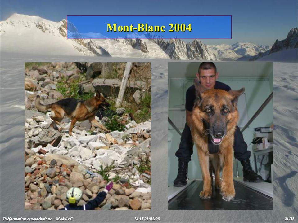 Mont-Blanc 2004 Préformation cynotechnique – Module C MAJ 01/02/08 21/38