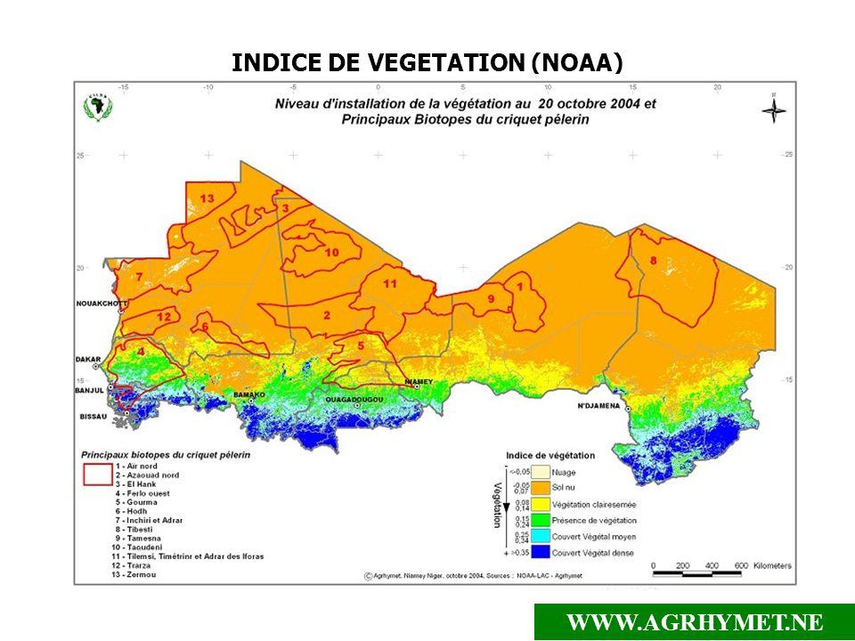 WWW.AGRHYMET.NE INDICE DE VEGETATION (NOAA)