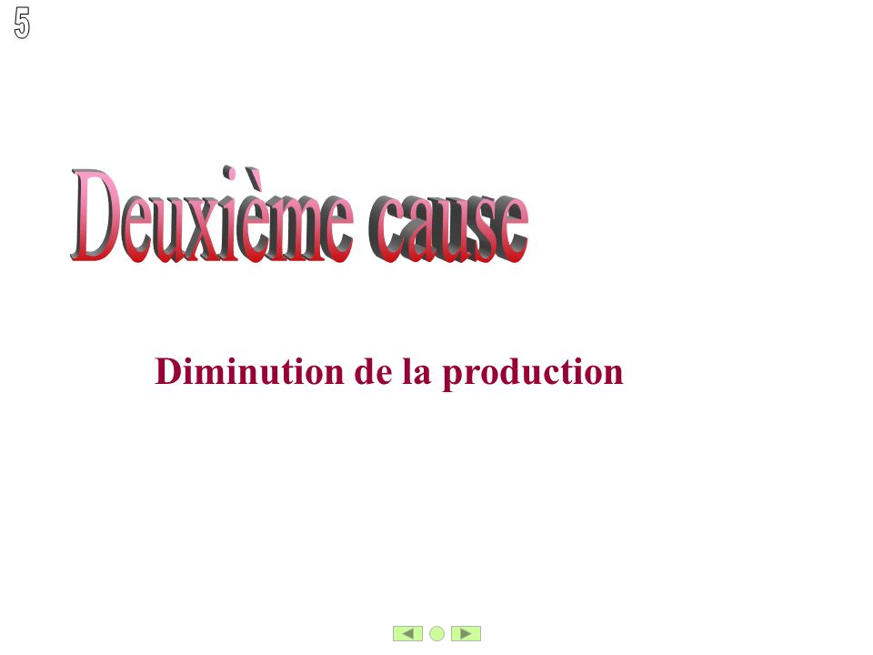 Diminution de la production