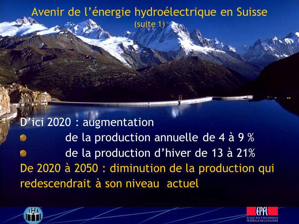 Dici 2020 : augmentation de la production annuelle de 4 à 9 % de la production dhiver de 13 à 21% De 2020 à 2050 : diminution de la production qui red