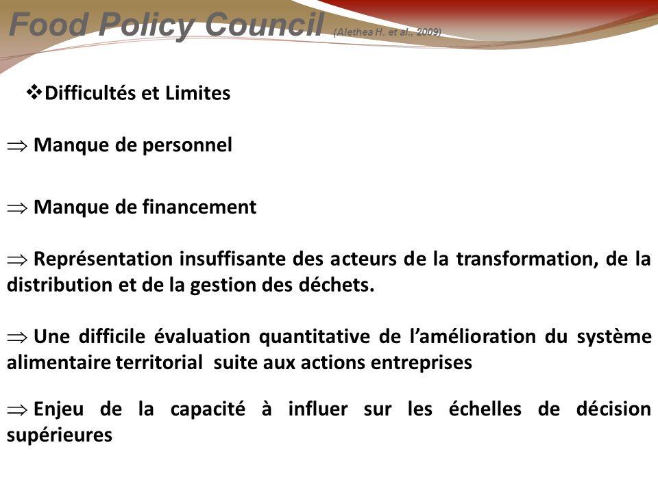 La figure de lhybridité Food Policy Council (Alethea H.