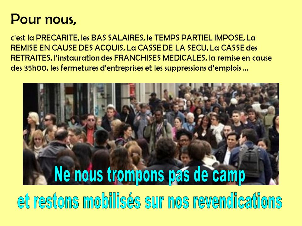 Yen a mare de ces privilégiés qui prennent la France en otage… Il faut de la justice et de léquité.