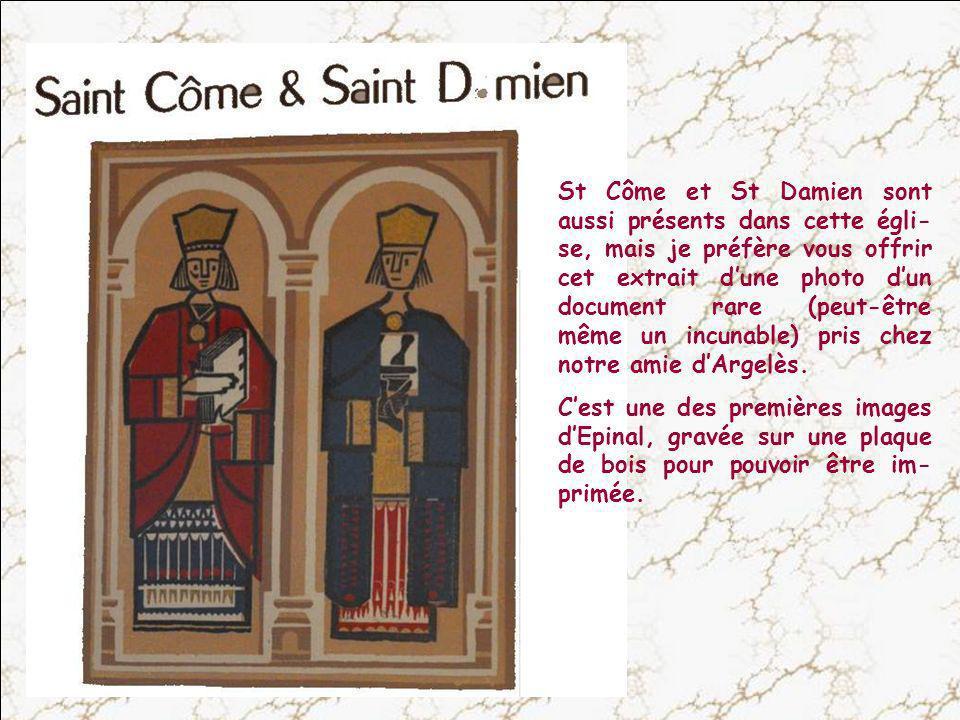 Saint Jean lEvangéliste et Saint Jean-Baptiste, réunis dans le même retable et sur le même autel.