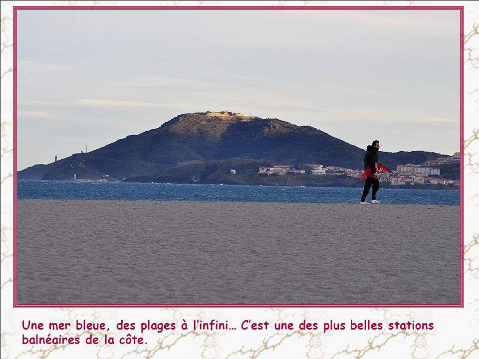 Argelès-sur-Mer : Ici, les Pyrénées se jettent dans la mer en créant la Côte Vermeille, qui s'étend jusqu'à l'Espagne.