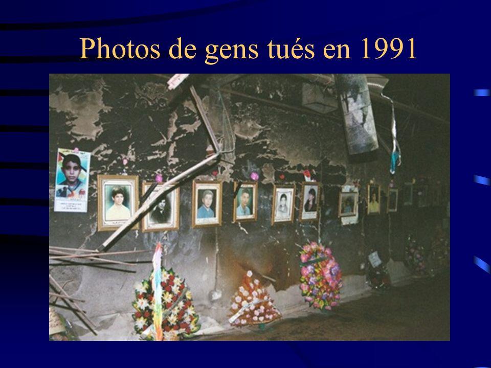 Photos de gens tués en 1991