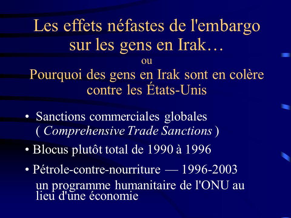 Désespoir profond : Pris au piège entre deux « non-choix » Et impossibilité d éviter une guerre imposée Souvenir de 1991… La trahison de Bush I.