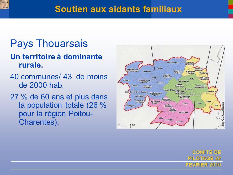 COMITE DE PILOTAGE 22 FEVRIER 2010 Soutien aux aidants familiaux Pays Thouarsais Un territoire à dominante rurale. 40 communes/ 43 de moins de 2000 ha