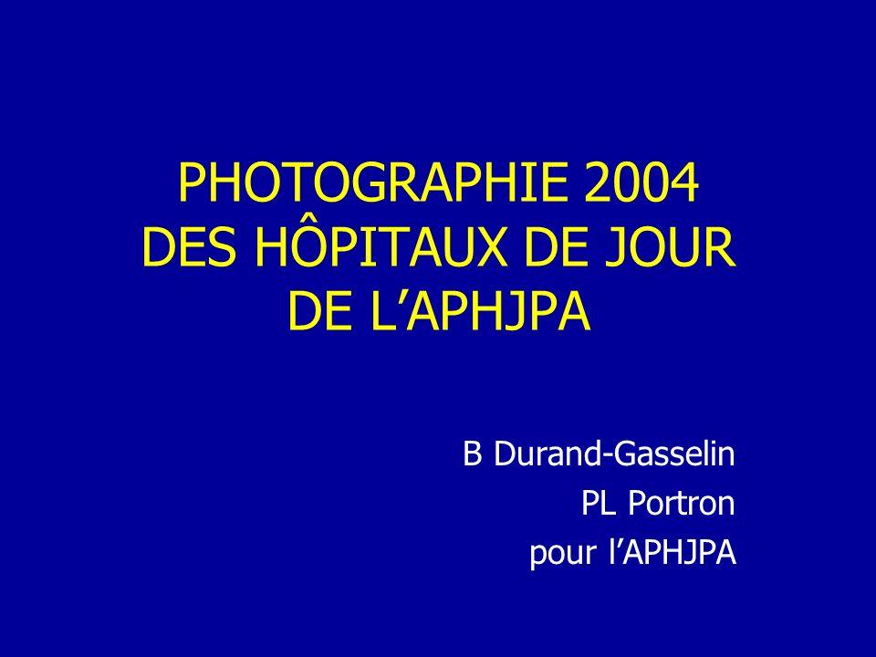 PHOTOGRAPHIE 2004 DES HÔPITAUX DE JOUR DE LAPHJPA B Durand-Gasselin PL Portron pour lAPHJPA