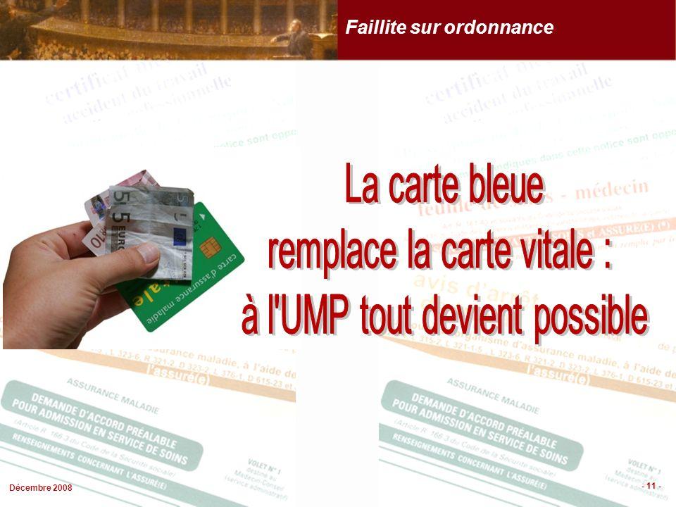 Décembre 2008 - 11 - Faillite sur ordonnance