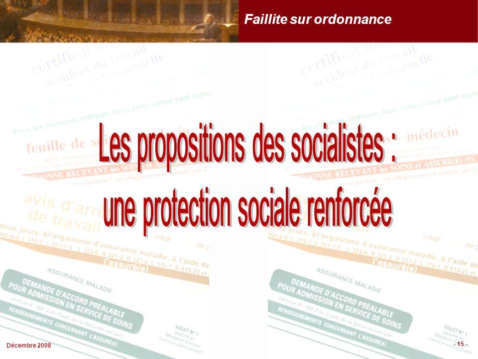 Décembre 2008 - 15 - Faillite sur ordonnance