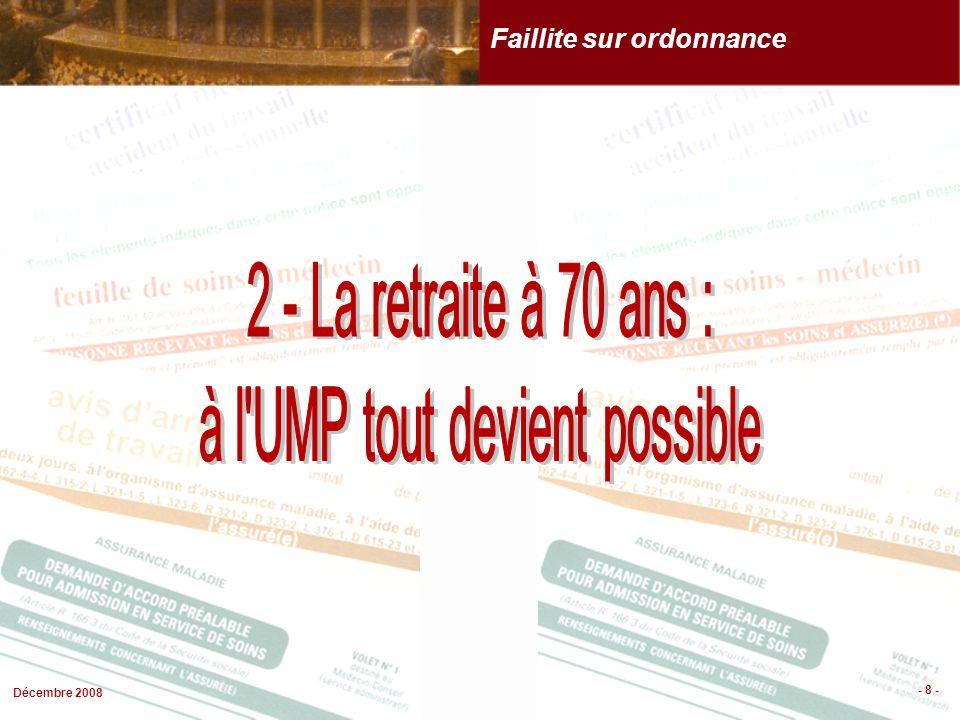 Décembre 2008 - 8 - Faillite sur ordonnance