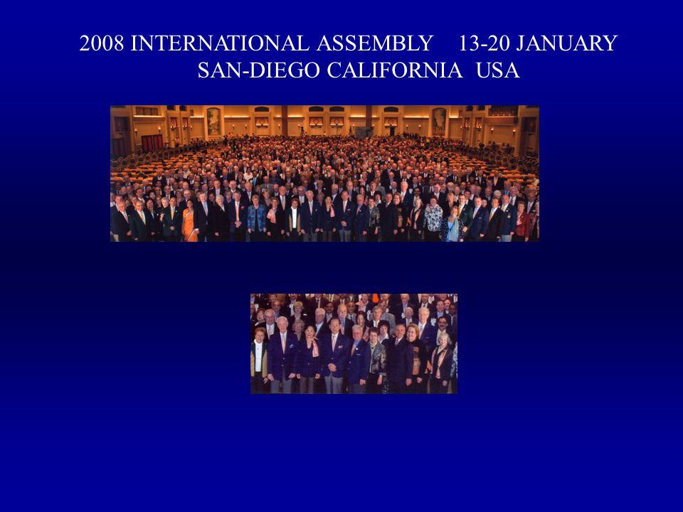 2008 INTERNATIONAL ASSEMBLY 13-20 JANUARY SAN-DIEGO CALIFORNIA USA