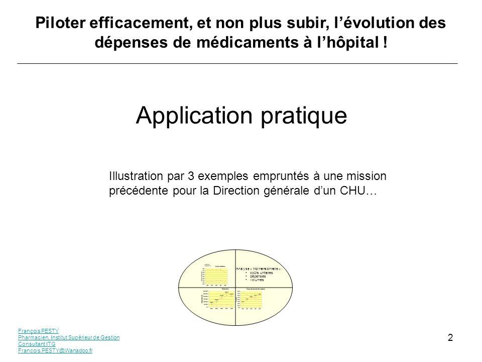 François PESTY Pharmacien, Institut Supérieur de Gestion Consultant ITG Francois.PESTY@Wanadoo.fr 2 Piloter efficacement, et non plus subir, lévolutio