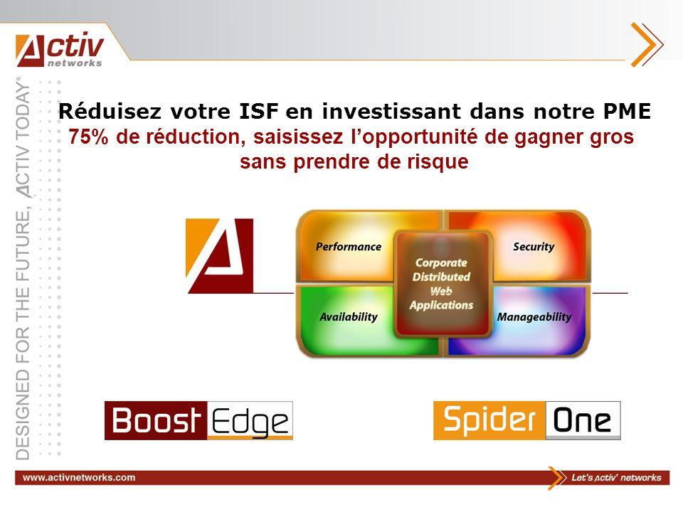 Réduisez votre ISF en investissant dans notre PME 75% de réduction, saisissez lopportunité de gagner gros sans prendre de risque