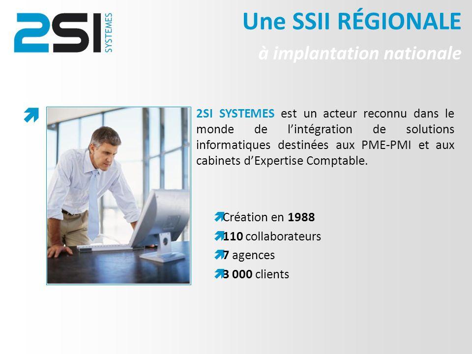 2SI SYSTEMES est un acteur reconnu dans le monde de lintégration de solutions informatiques destinées aux PME-PMI et aux cabinets dExpertise Comptable.