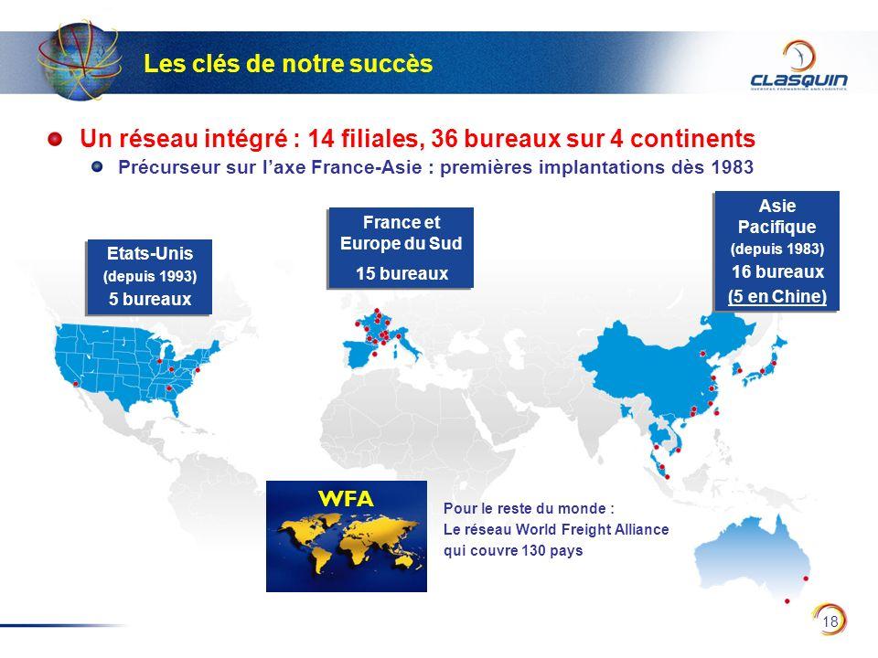 18 France et Europe du Sud 15 bureaux France et Europe du Sud 15 bureaux Asie Pacifique (depuis 1983) 16 bureaux (5 en Chine) Asie Pacifique (depuis 1