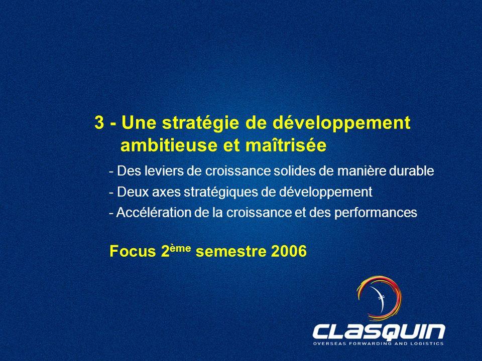 38 3 - Une stratégie de développement ambitieuse et maîtrisée - Des leviers de croissance solides de manière durable - Deux axes stratégiques de dével