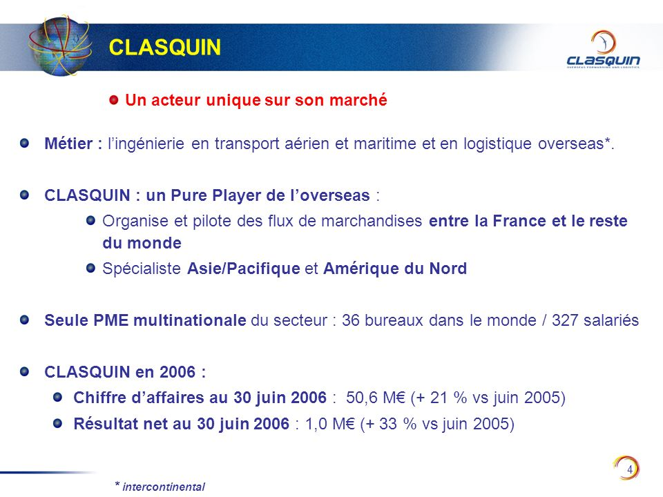 35 Tableau de flux de trésorerie (en M) * chiffres retraités du factor En M31/12/2005* (12 mois) 30/06/2006* (6 mois) Cash flow (CAF) 3,28 1,49 Variation du BFR-3,69-3,81 Flux net de trésorerie liés -1,20 -0,75 aux opér.