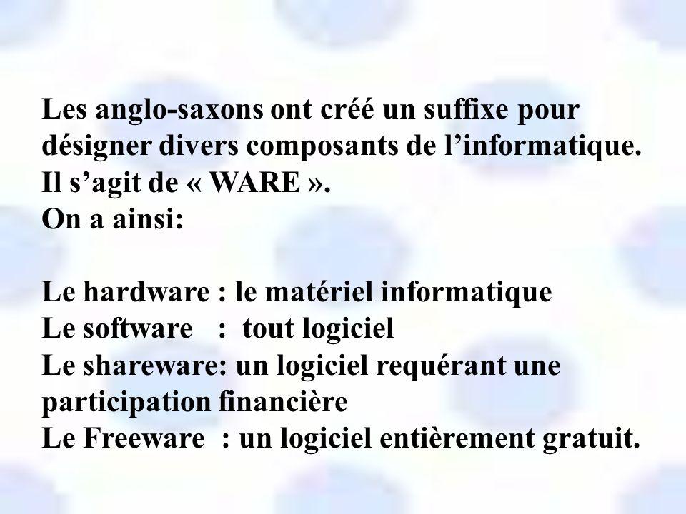Les belges ont jugé utile de compléter ce vocabulaire informatique à moins que ce ne soient les québécois… En voici le résultat…