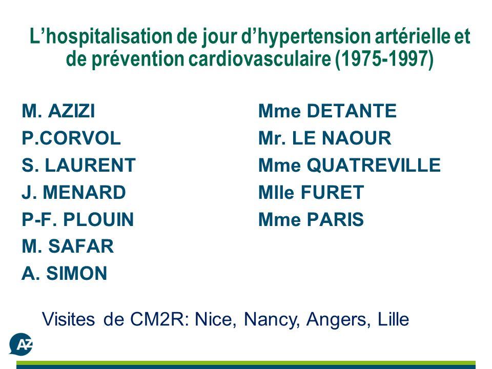 Lhospitalisation de jour dhypertension artérielle et de prévention cardiovasculaire (1975-1997) M.