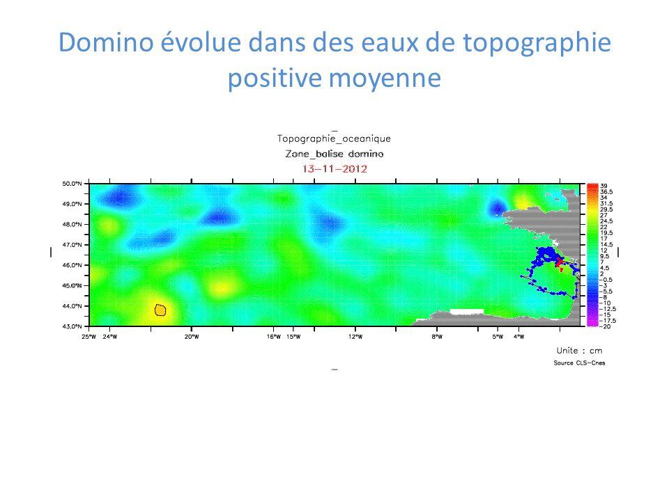 Domino évolue dans des eaux de topographie positive moyenne