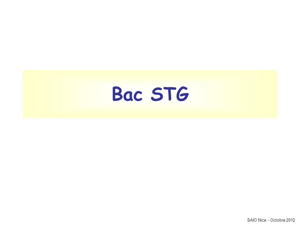 SAIO Nice - Octobre 2012 Bac STG