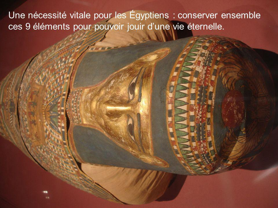 Une nécessité vitale pour les Égyptiens : conserver ensemble ces 9 éléments pour pouvoir jouir dune vie éternelle.