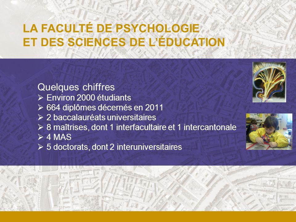 Quelques chiffres Environ 2000 étudiants 664 diplômes décernés en 2011 2 baccalauréats universitaires 8 maîtrises, dont 1 interfacultaire et 1 interca