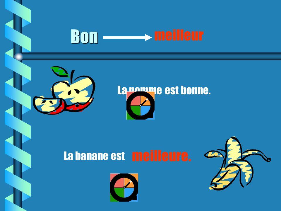 Un adjectif irrégulier Bon